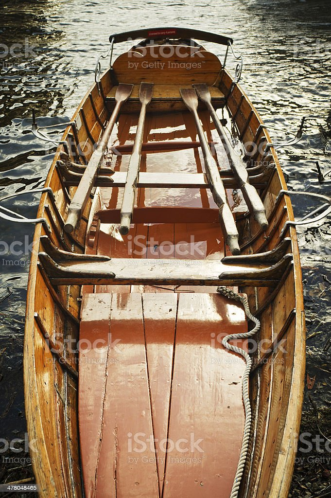 Rowing Boat at Ambleside royalty-free stock photo