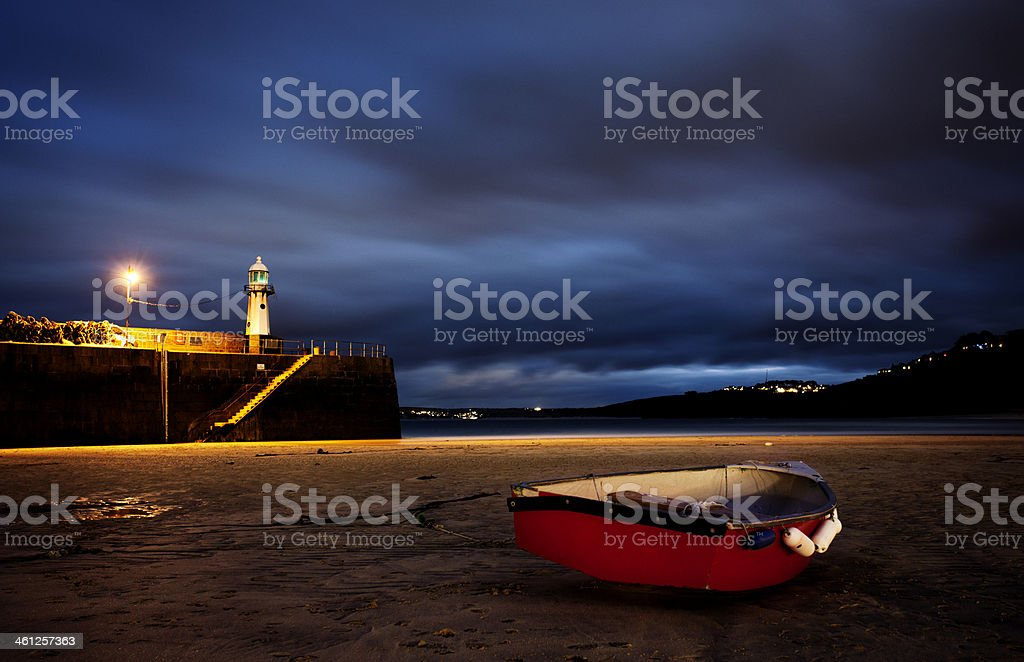 Rowing boat in St. Ives royalty-free stock photo