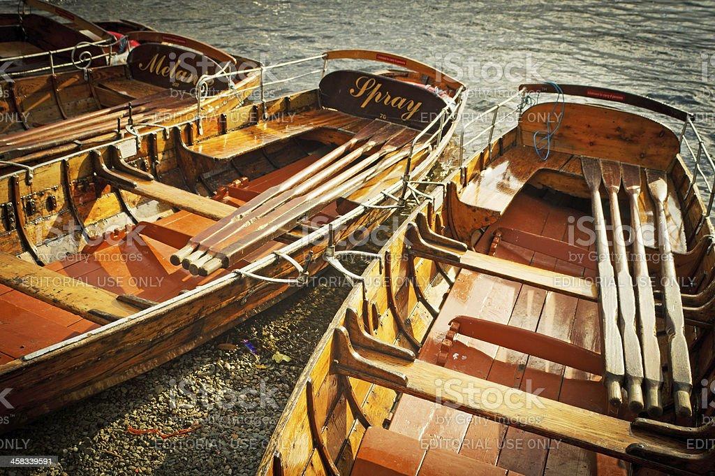 Rowing Boats at Ambleside royalty-free stock photo