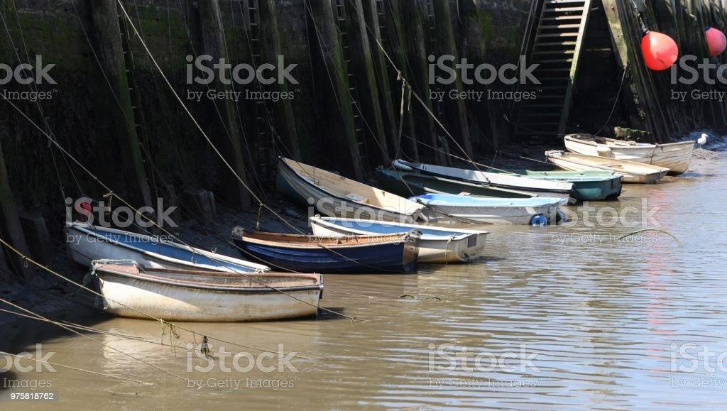 Ruderboote - Lizenzfrei Bildhintergrund Stock-Foto