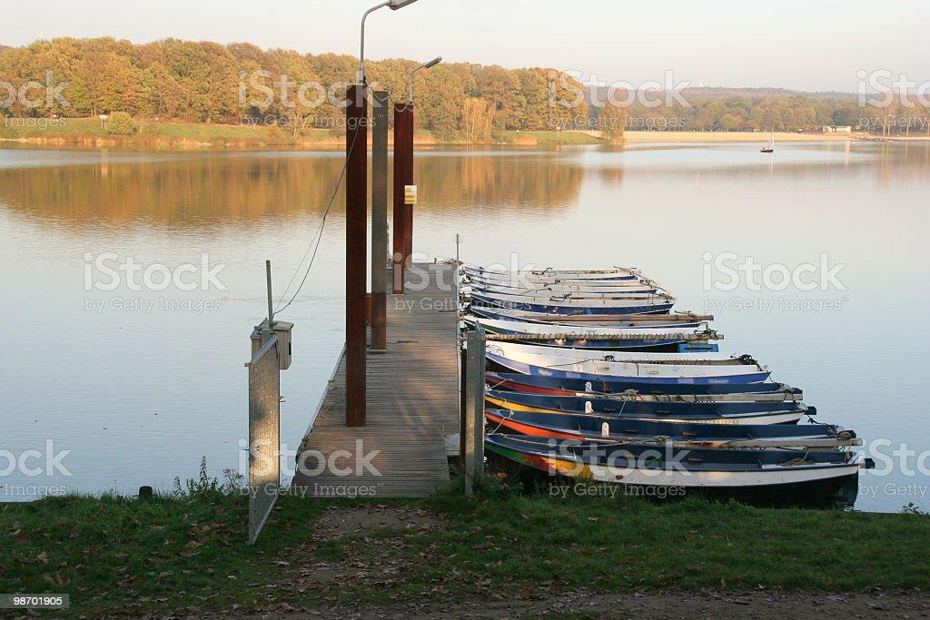Rowing Boats royalty-free stock photo