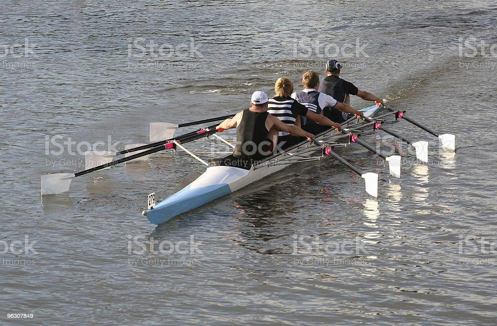Rowing Four stock photo