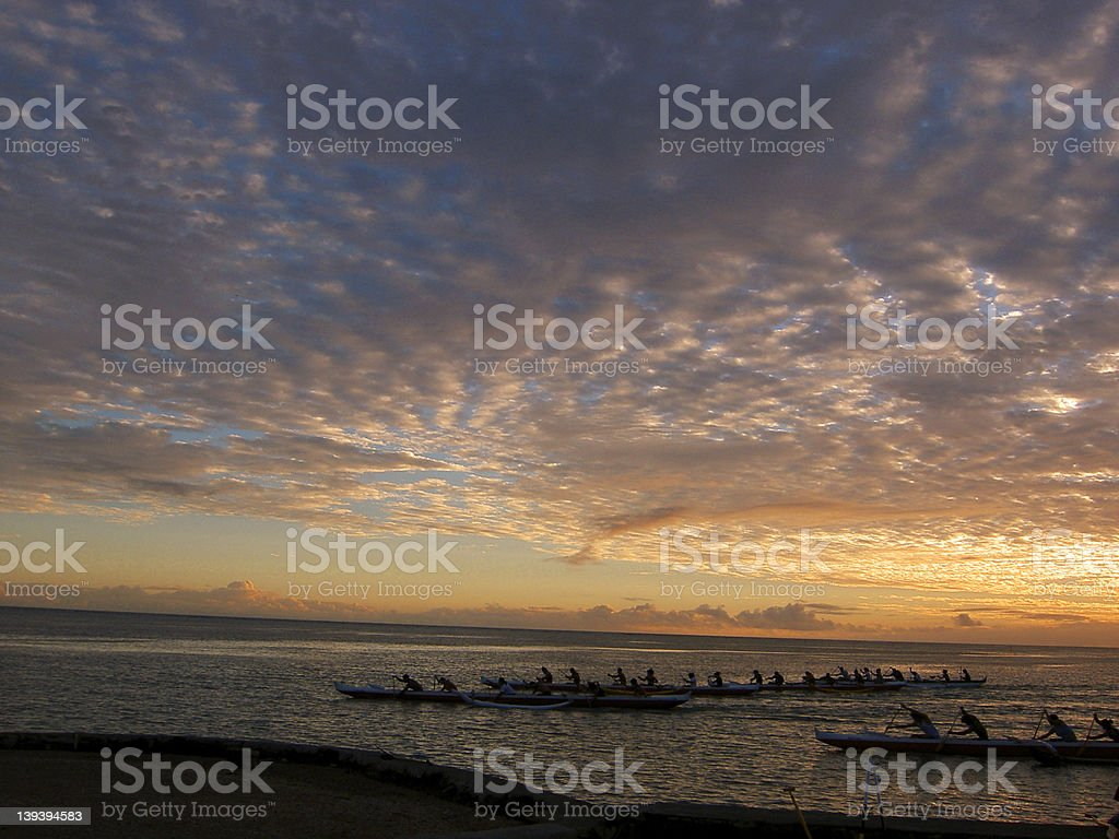 rowing in royalty-free stock photo
