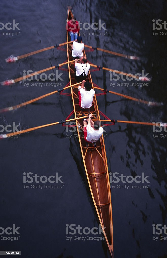 Rowing (motion blur) stock photo