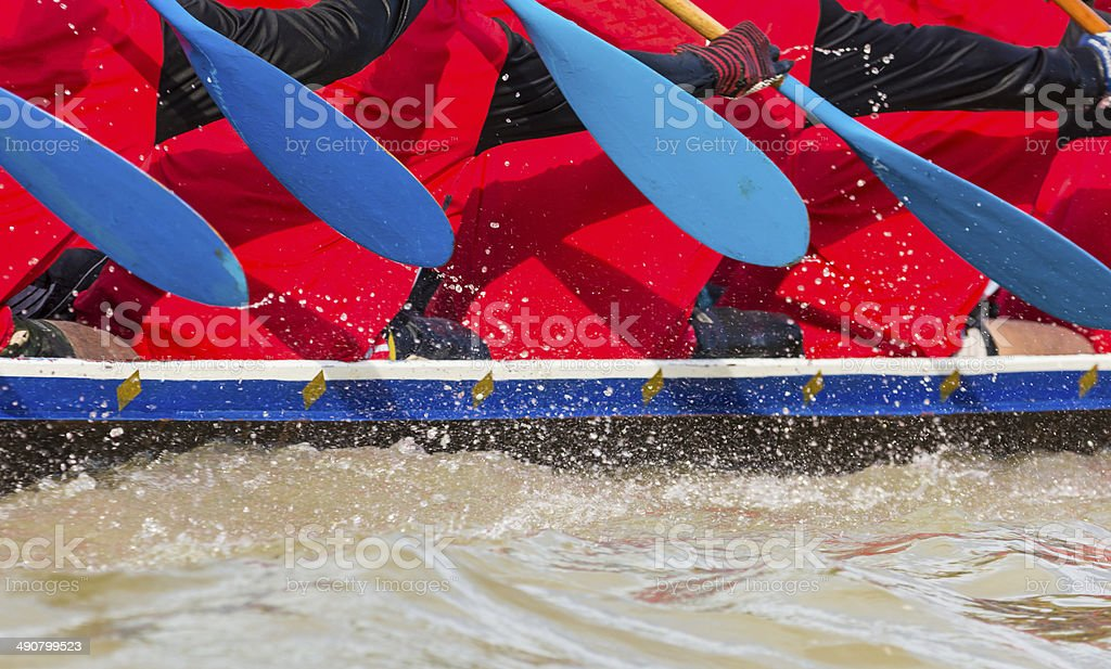 rowing team race royalty-free stock photo