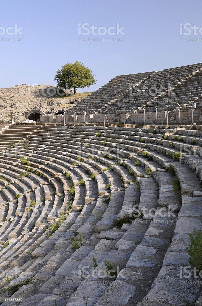 Rows Of Ancient Theater royalty-free stock photo