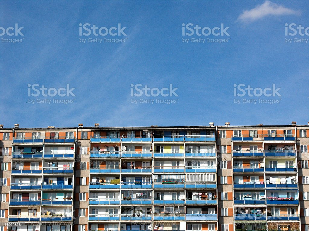 Rows of balconies - crowd royalty-free stock photo