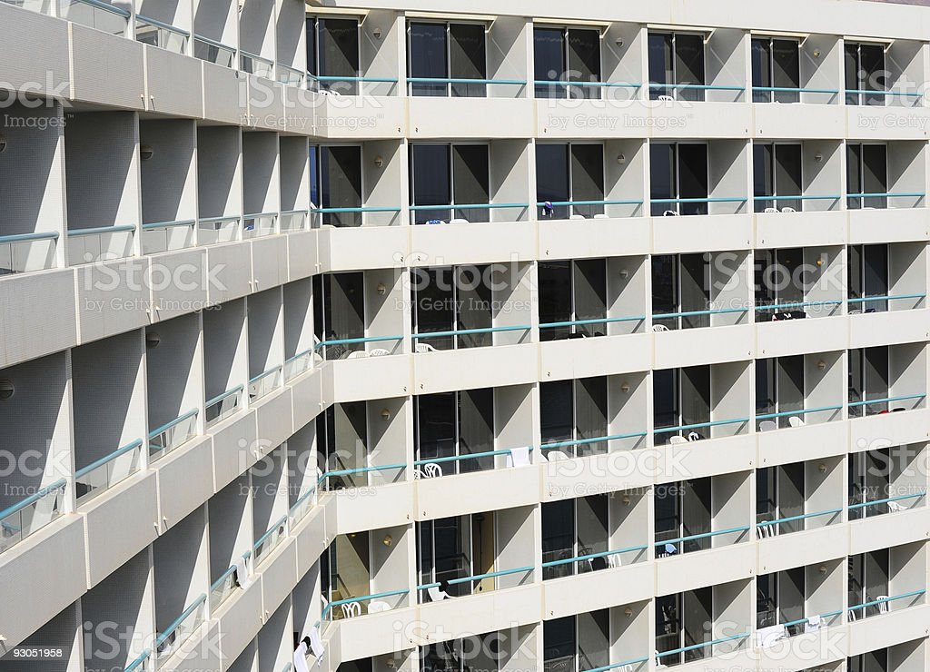 Rows of Balconies royalty-free stock photo
