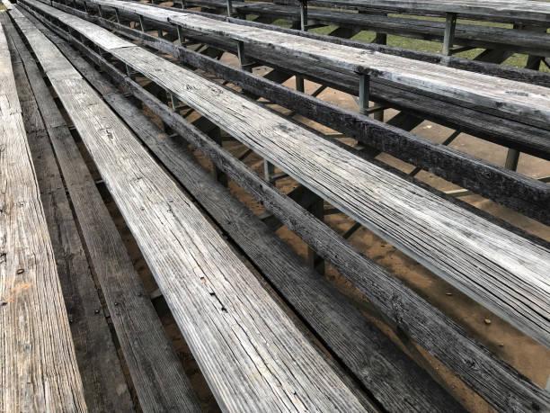 Rows of Bleachers stock photo