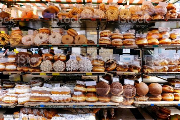 Rows of doughnuts on a market stall picture id864802214?b=1&k=6&m=864802214&s=612x612&h=exwbhhawfbv5lsht8pc iecpfhmlkz1tzbgxdixcirm=