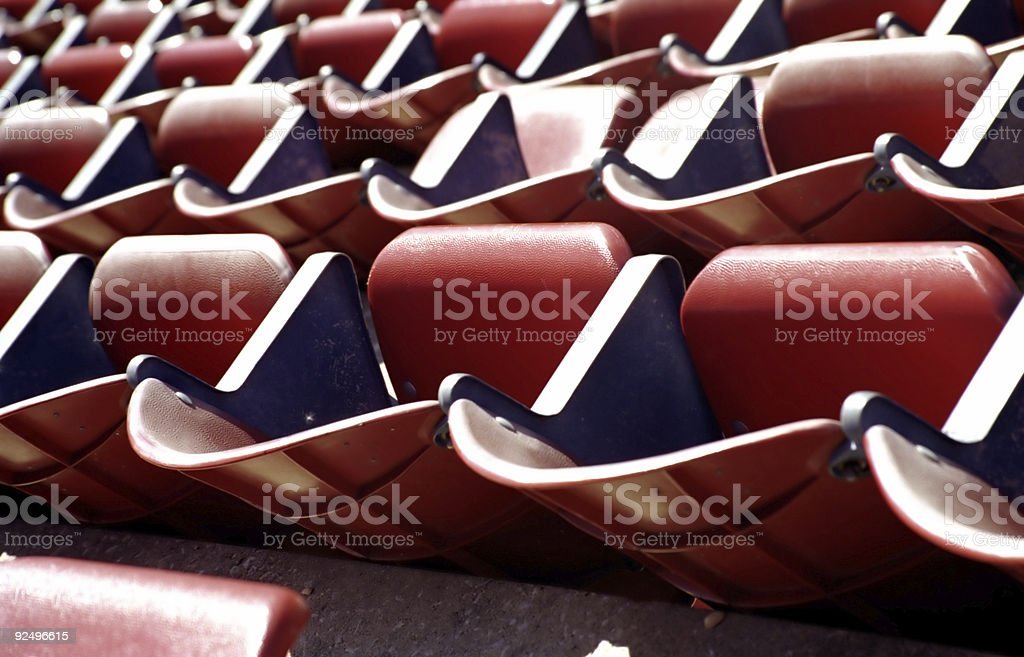 Rows of Folding Stadium Seats - Full Frame royalty-free stock photo