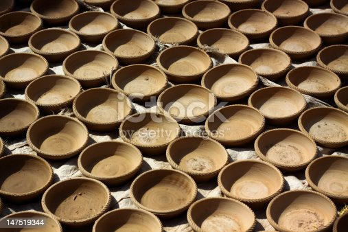 Rows Of Freshly Made Pots Stock Photo & More Pictures of Art