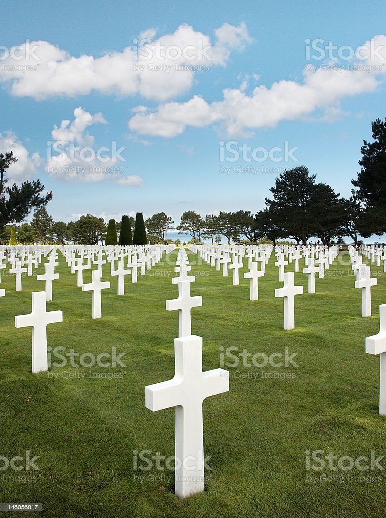 Rows of graves royalty-free stock photo