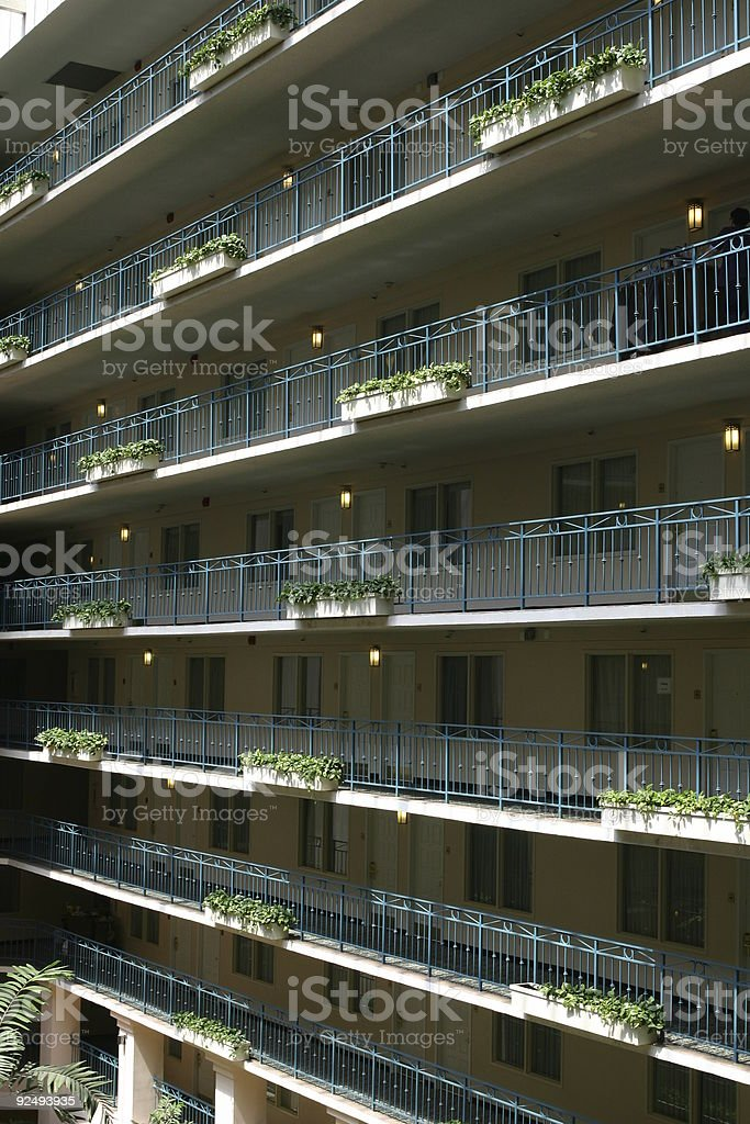 rows of hotel room royalty-free stock photo