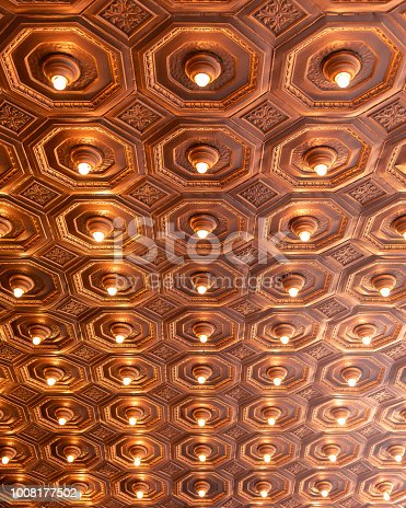 931079952 istock photo Rows of illuminated globes under the marquee 1008177502