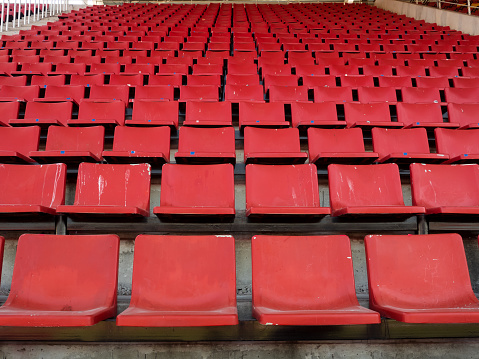 Rows of Old Red Stadium Chair