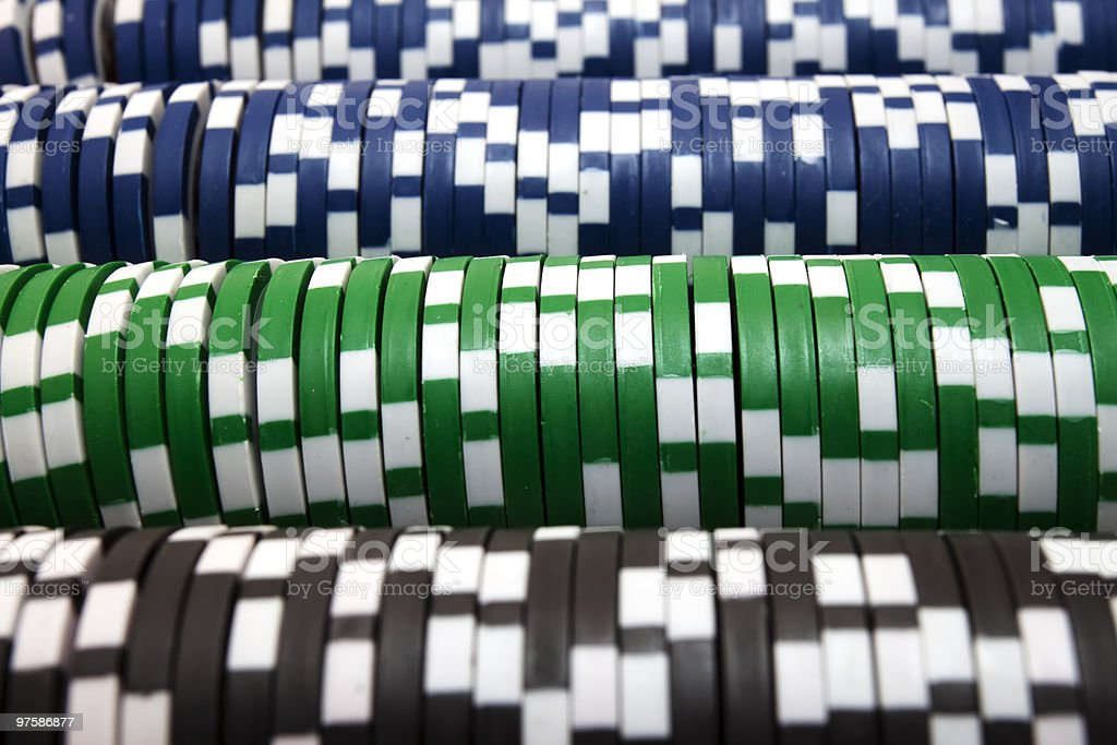 Rows Of Poker Chips XL royalty-free stock photo