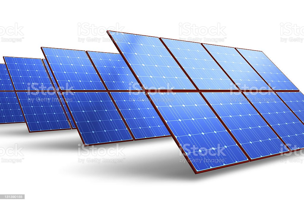Rows of solar battery panels royalty-free stock photo