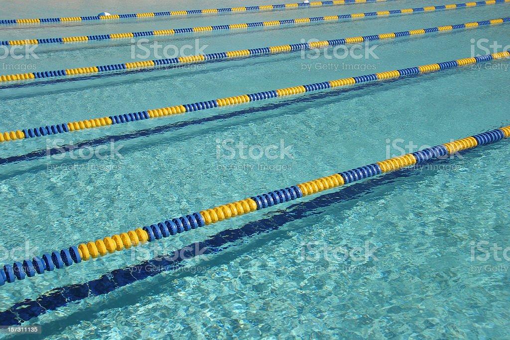 Rows Of Swim Lanes stock photo