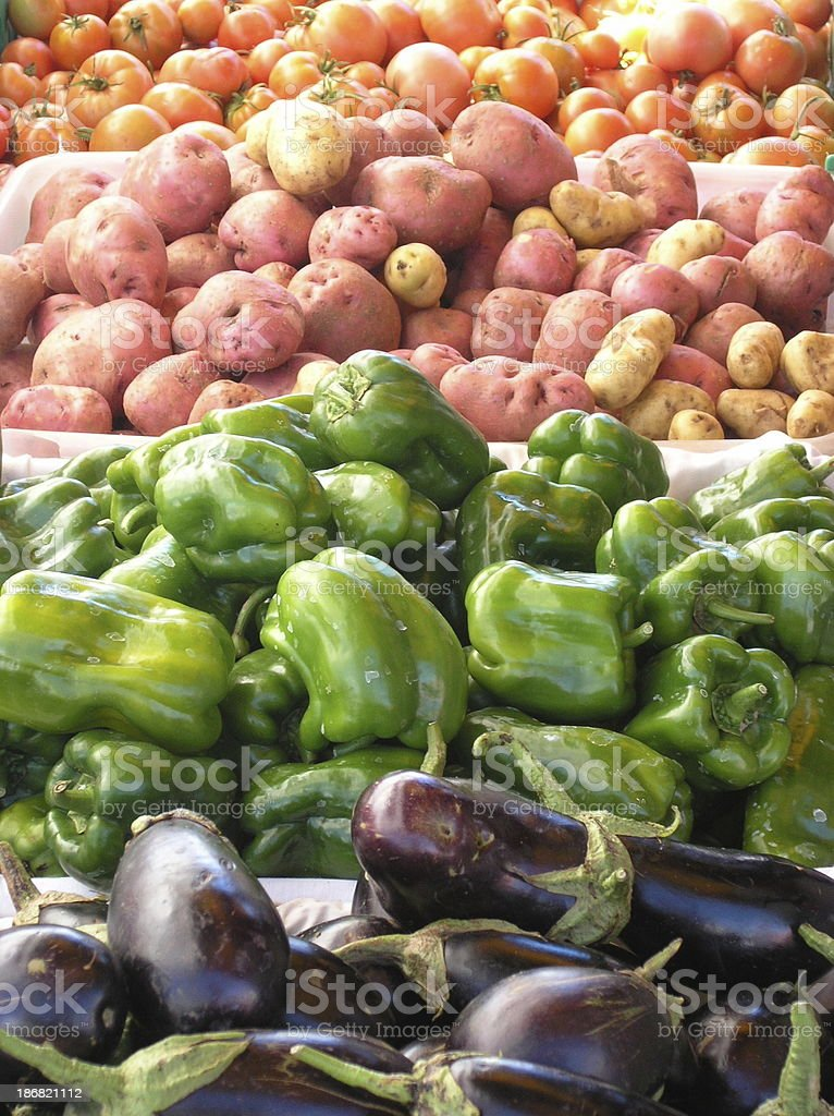 Rows of veges royalty-free stock photo
