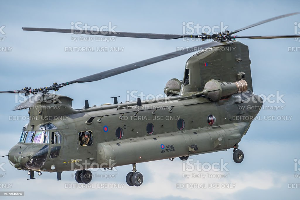 Royal Air Force Chinook Helicopter stock photo