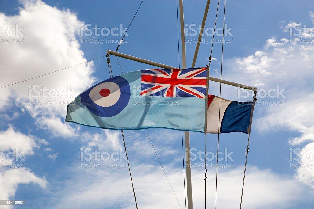 Royal Air Force Ensign Flag - British RAF Flag Symbol royalty-free stock photo