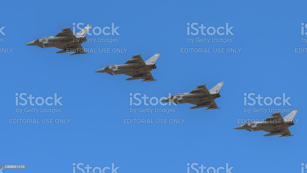 Royal Air Force Eurofighter Typhoon Jet Aircraft Stock Photo & More
