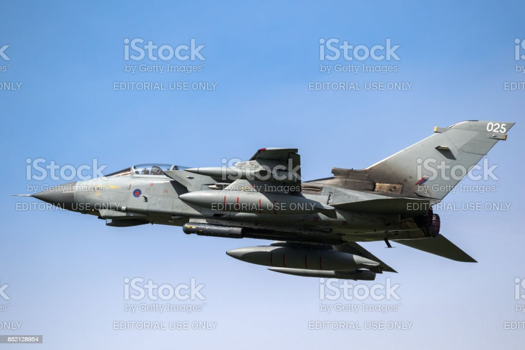 Royal Air Force Tornado fighter jet stock photo
