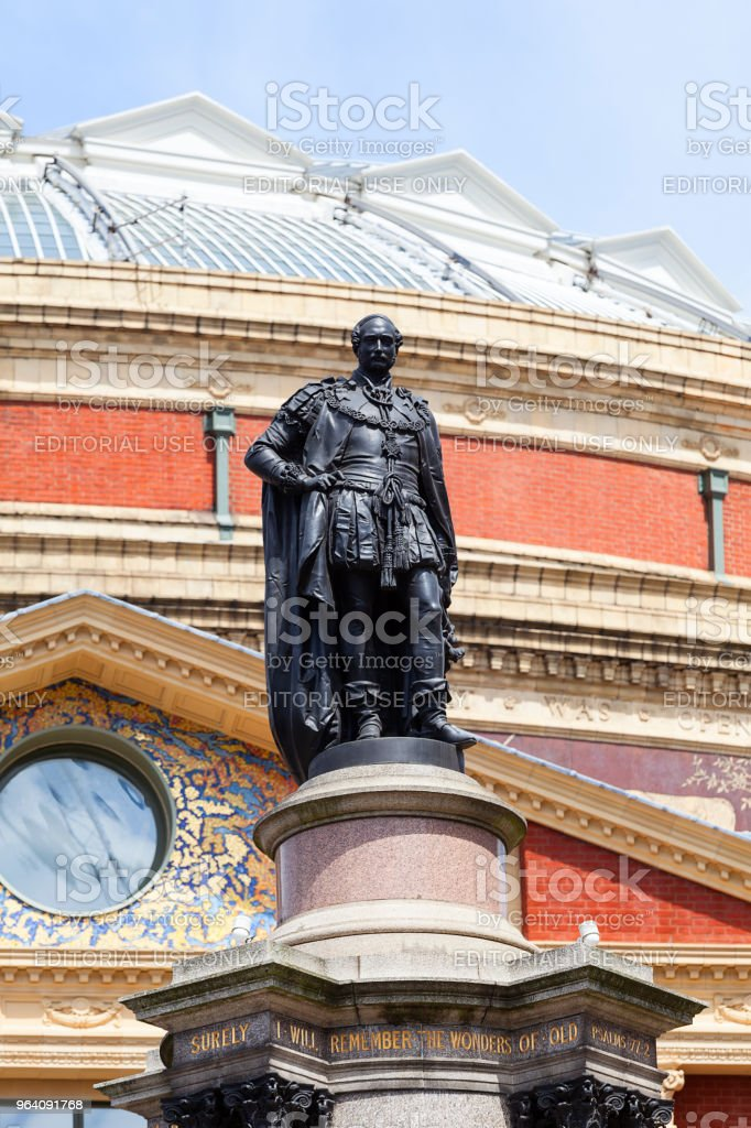 Royal Albert Hall, a concert hall dedicated to the husband of Queen Victoria, Prince Albert, London, United Kingdom - Royalty-free Albert Memorial - Kensington Gardens Stock Photo