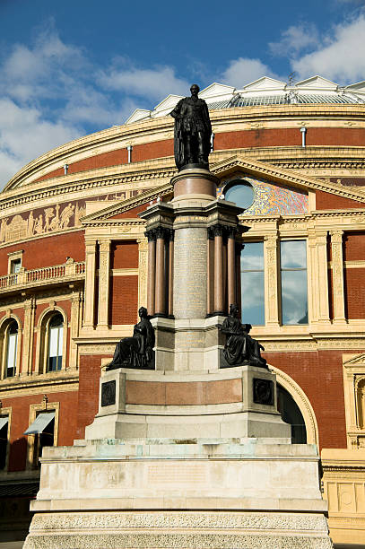 Royal Albert Hall The Royal Albert Hall, built 1867-71 was built to commemorate the death of Queen Victoria's belove consort Prince Albert and is the leading classical music venue in The UK and is the home of the Proms. prince musician stock pictures, royalty-free photos & images