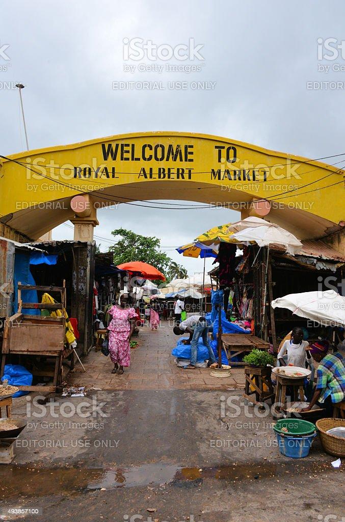 Royal Albert Market, Banjul, The Gambia stock photo