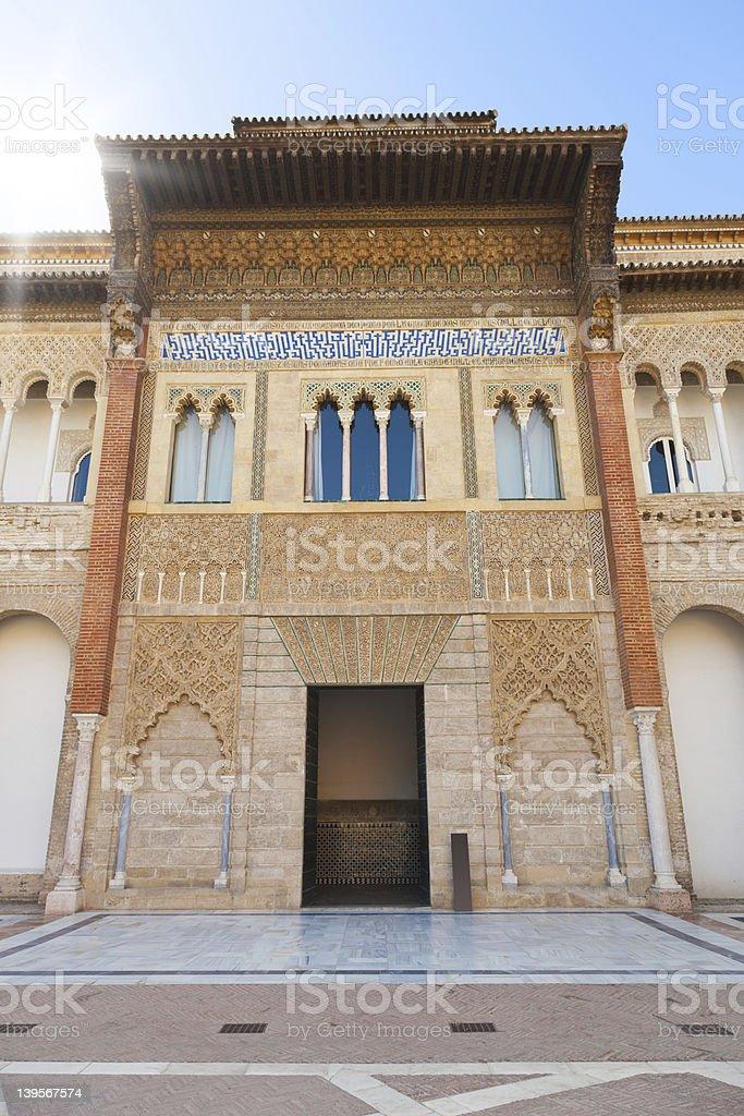 Royal Alcazar of Sevilla royalty-free stock photo