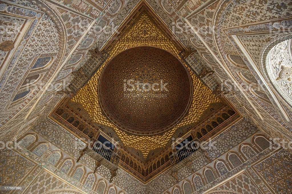 Royal Alcazars interior, Seville, Spain stock photo