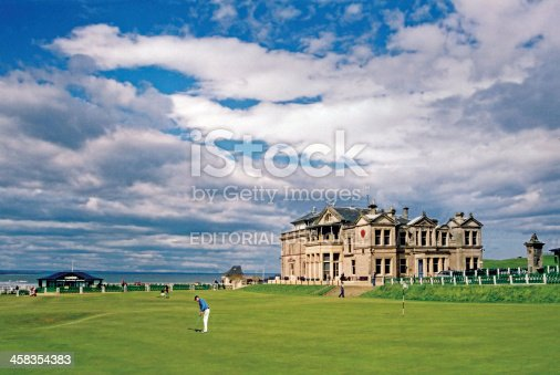 St. Andrews, Scotland - June 25th, 2004: Royal and Ancient Golf Club St. Andrews, Old Course overlooking the North Sea. The 'Home of Golf' and the most famous golf course in the world.