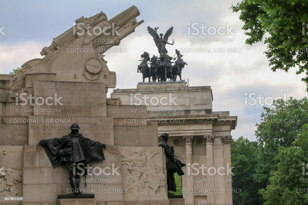 Royal Artillery Memorial in Hyde Park Corner, London stock photo