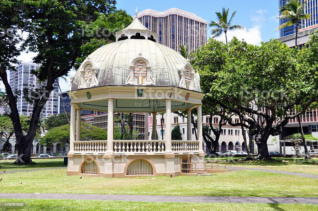 Royal Bandstand, Honolulu, Hawaii stock photo