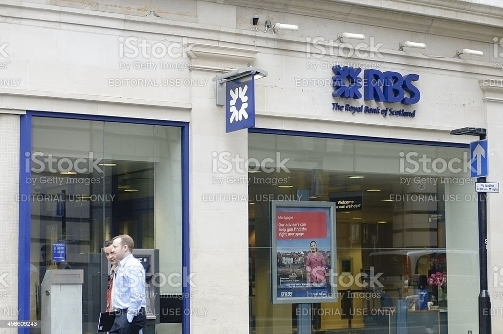 Royal Bank of Scotland High Street Branch stock photo
