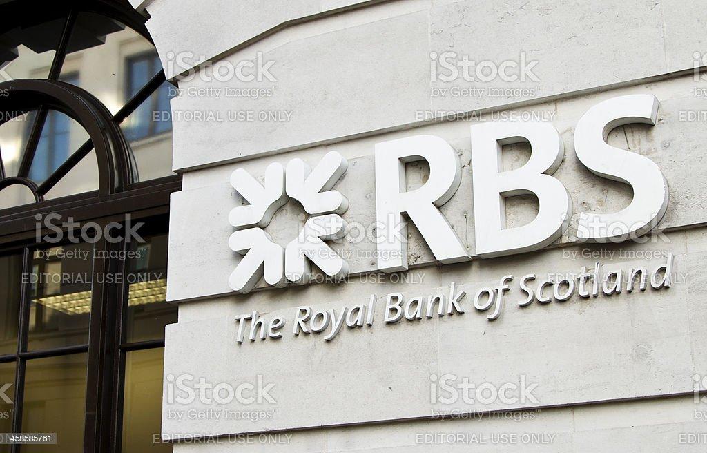 Royal bank of Scotland RBS signage stock photo