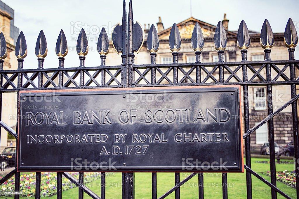 Royal Bank of Scotland's Registered Office building in Edinburgh stock photo