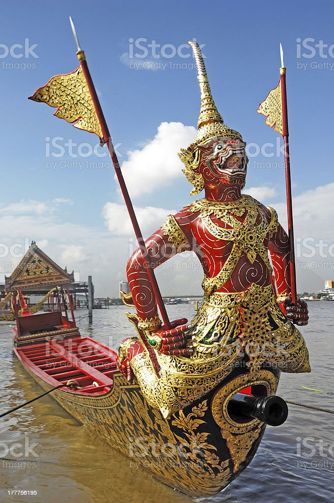 Royal Barge in Thailand royalty-free stock photo