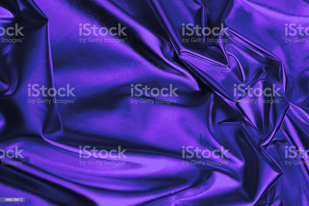Royal Blue Satin Fabric Background royalty-free stock photo