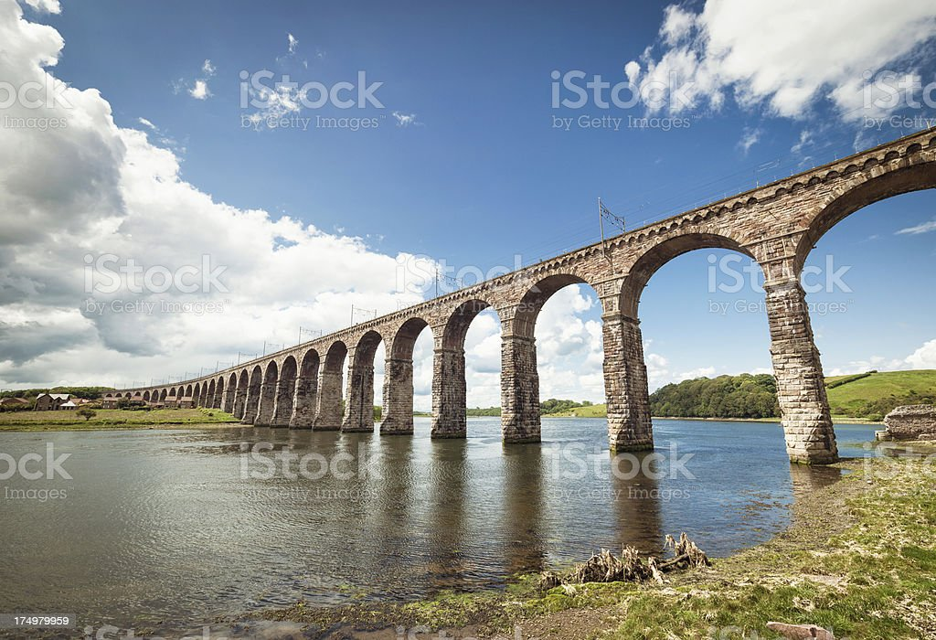 Royal Border Bridge in Berwick upon Tweed stock photo