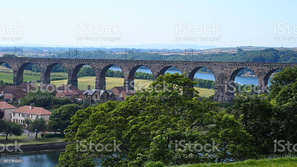 Royal Border Bridge stock photo