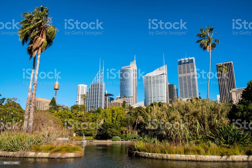 Royal Botanic Gardens In Sydney royalty-free stock photo