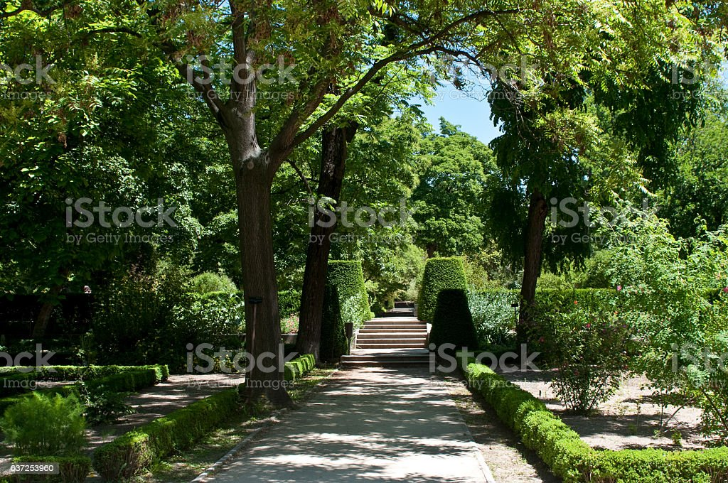 Royal Botanical Garden, Madrid, Spain stock photo