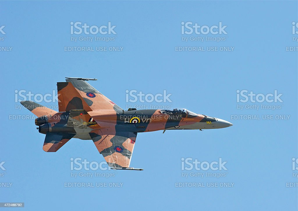 Royal Canadian Air Force F-18 Hornet stock photo