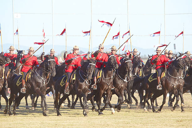 RCMP, Royal Canadian Mounted Police Musical Ride stock photo