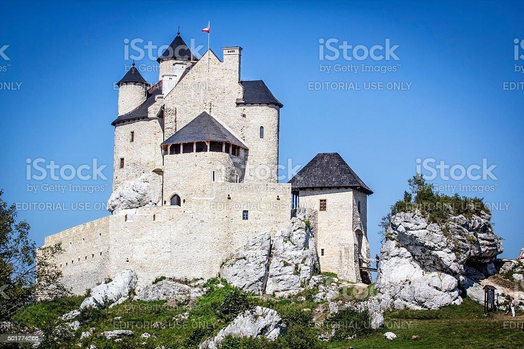 Royal Castle in Bobolice, Poland stock photo