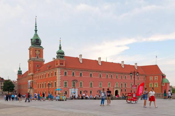 Royal Castle in Warsaw stock photo