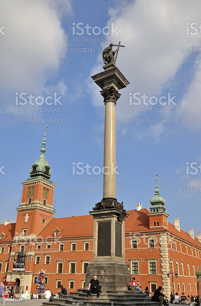 Royal Castle in Warsaw royalty-free stock photo